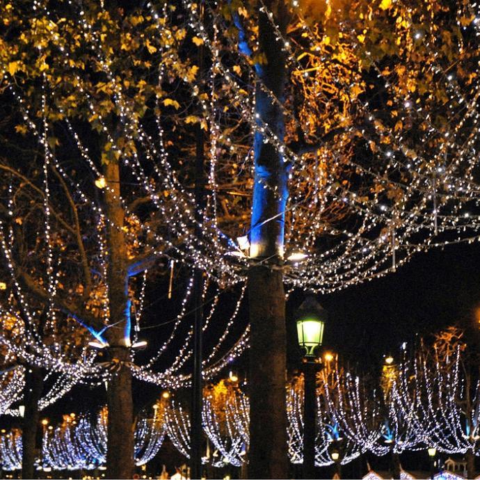 Christmas windows and illuminations; an enchanted break