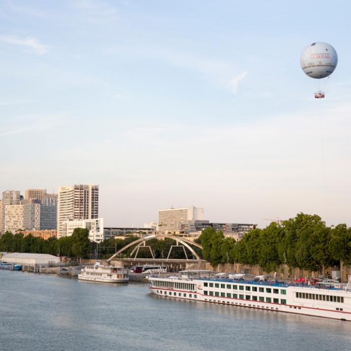 See Paris from a different perspective by balloon